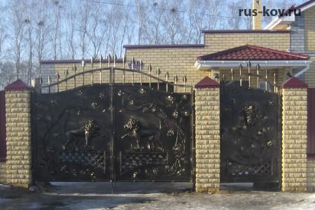 """Ворота и калитка """"Львы"""""""