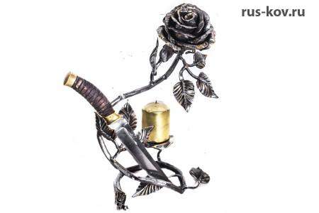 Роза - Подставка для ножа (подсвечник)